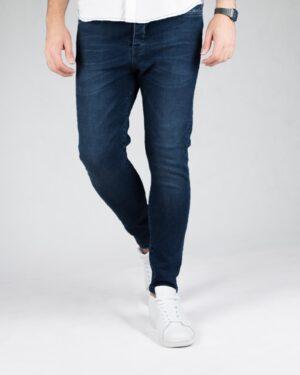 شلوار جین تیره اسپرت مردانه - آبی تیره - رو به رو شلوار