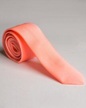 کراوات ساتن مردانه قرمز - گلبهی پاستیلی