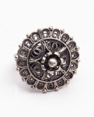انگشتر نقره زنانه - نقره ای - انگشتر نقره