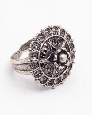 انگشتر نقره زنانه - نقره ای - انگشتر پشت باز