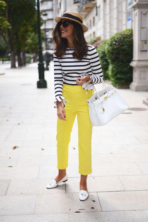 راهنمای استایل تابستانی خانم ها شلوار زرد