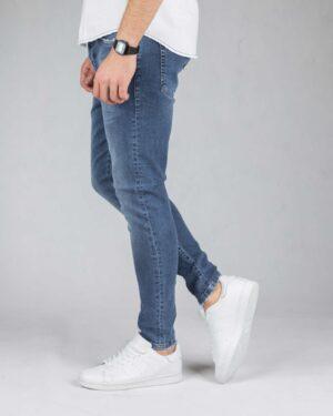 شلوار جین آبی اسپرت مردانه - آبی تیره - بغل