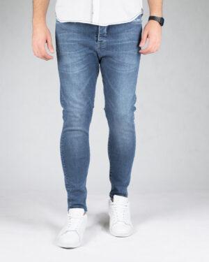 شلوار جین آبی اسپرت مردانه - آبی تیره - رو به رو