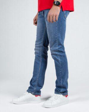 شلوار جین آبی راسته مردانه- آبی- نیم رخ