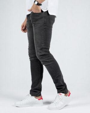 شلوار جین مردانه اسپرت - دودی تیره - بغل