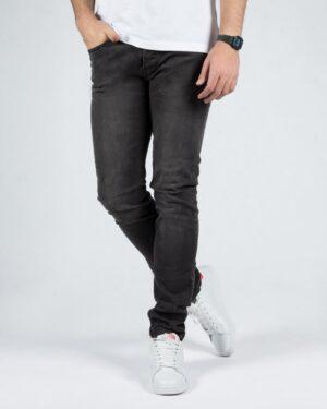 شلوار جین مردانه اسپرت - دودی تیره - رو به رو
