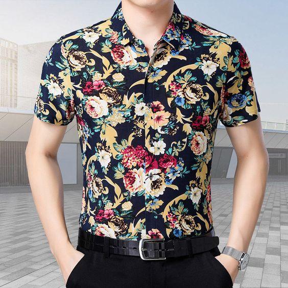 پیراهن مردانه گلدار؛ لباس ترند تابستانی مردانه