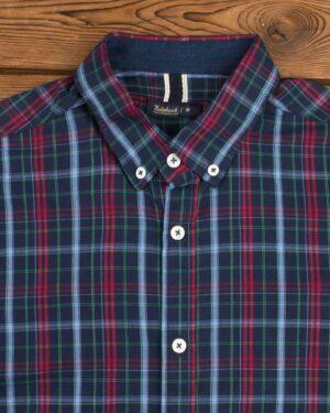 پیراهن چهارخانه اسپرت مردانه - قرمز - یقه مردانه