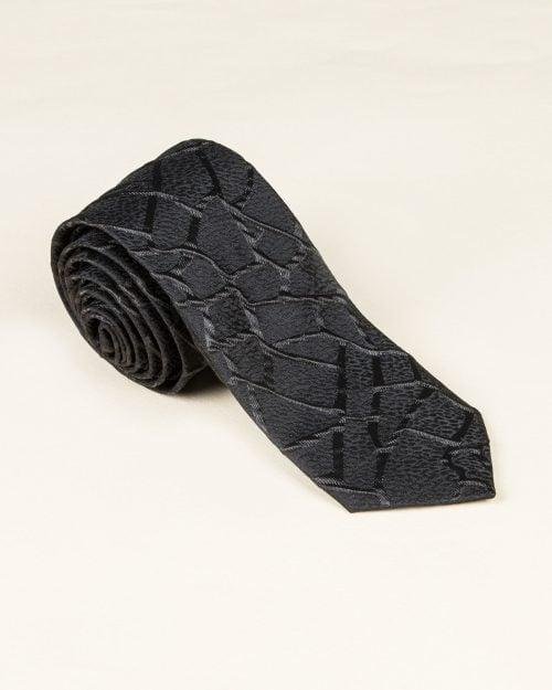 کراوات مشکی طرح دار - مشکی