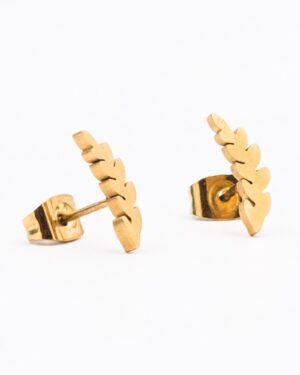 گوشواره زنانه طرح گندم - طلایی - گوشواره میخی