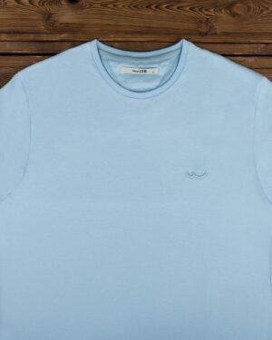 تیشرت مردانه ساده یقه گرد - آبی آسمانی - یقه گرد