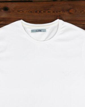 تیشرت مردانه ساده یقه گرد - سفید - یقه گرد