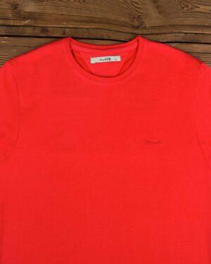 تیشرت مردانه ساده یقه گرد - قرمز - یقه گرد