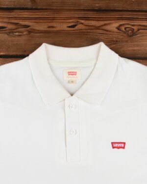 تیشرت یقه دار مردانه ساده - سفید - یقه پولو