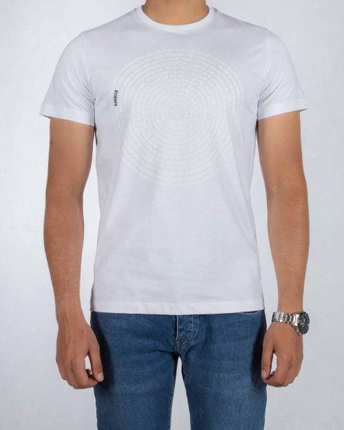 انواع تیشرت مردانه سفید با طرح برجسته