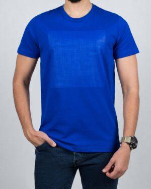 تیشرت یقه گرد مردانه اسپرت - آبی تیره - رو به رو