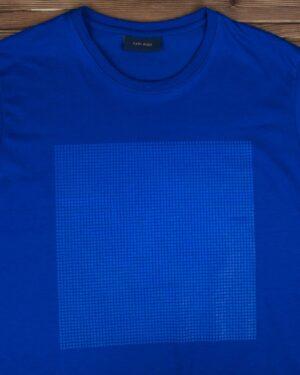 تیشرت یقه گرد مردانه اسپرت - آبی تیره - یقه گرد