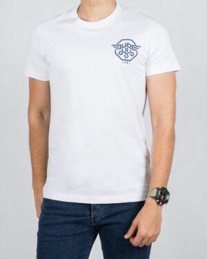 تی شرت مردانه اسپرت آستین کوتاه - سفید - رو به رو