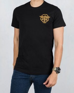 تی شرت مردانه اسپرت آستین کوتاه - مشکی - رو به رو