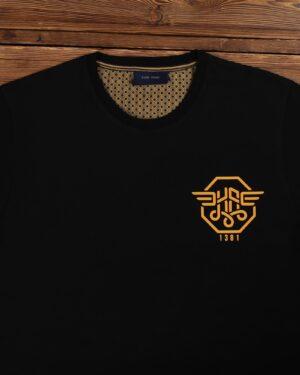 تی شرت مردانه اسپرت آستین کوتاه - مشکی - یقه گرد