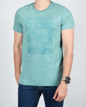 تی شرت مردانه اسپرت یقه گرد - آبی آسمانی - رو به رو