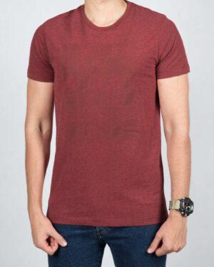 تی شرت مردانه اسپرت یقه گرد - جگری - رو به رو