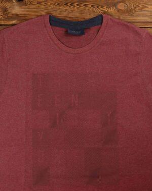 تی شرت مردانه اسپرت یقه گرد - جگری - یقه گرد