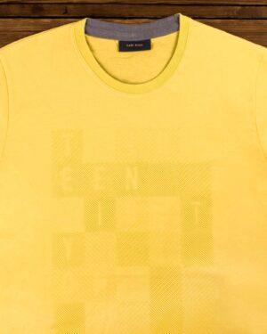 تی شرت مردانه اسپرت یقه گرد - زرد - یقه گرد