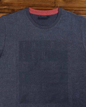 تی شرت مردانه اسپرت یقه گرد - سرمه ای - یقه گرد