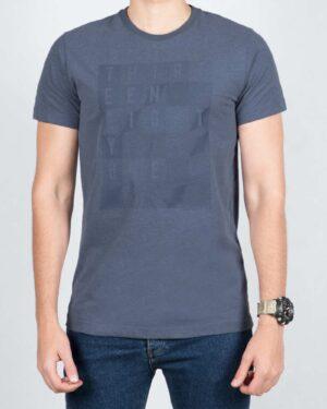 تی شرت مردانه اسپرت یقه گرد - نیلی - رو به رو