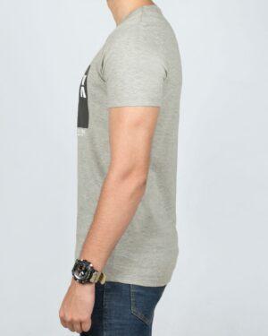 تی شرت نخی اسپرت مردانه - ملانژ - بغل