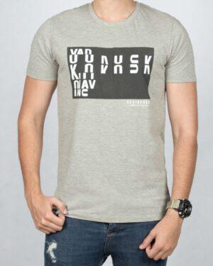 تی شرت نخی اسپرت مردانه - ملانژ - رو به رو