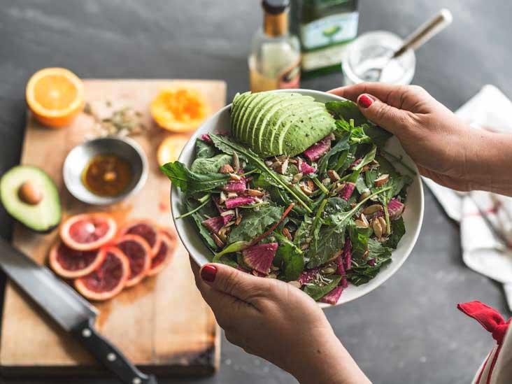 رژیمهای موثر کاهش وزن رژیم گیاهخواری سبزیجات اووکادو