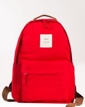 کوله پشتی مدرسه ساده - قرمز - رو به رو