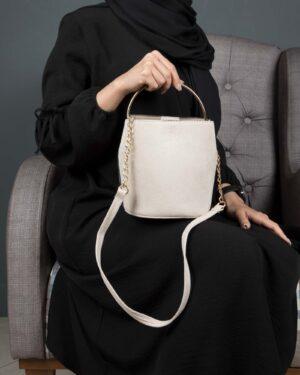 کیف دستی مجلسی جیر زنانه - بژ - کیف دخترانه