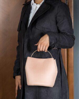 کیف دستی مجلسی جیر زنانه - صورتی کثیف - کیف دخترانه
