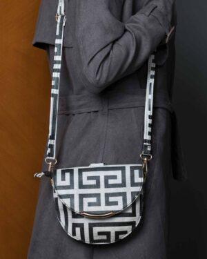 کیف دستی کوچک زنانه طرح دار - مشکی - کیف دخترانه