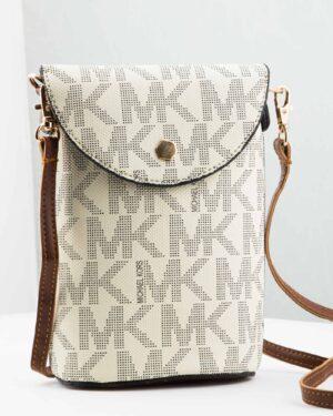 کیف دوشی سفید زنانه طرح دار - سفید - رو به رو