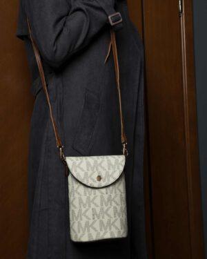 کیف دوشی سفید زنانه طرح دار - سفید - کیف دخترانه