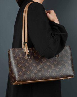 کیف دوشی قهوه ای طرح دار زنانه - قهوه ای تیره - کیف دخترانه
