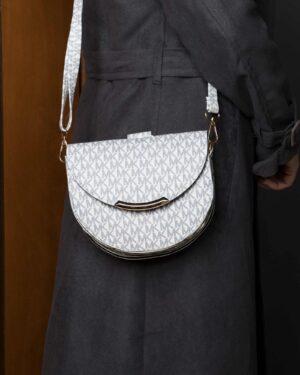 کیف مجلسی سفید طرح دار زنانه - سفید - کیف دخترانه
