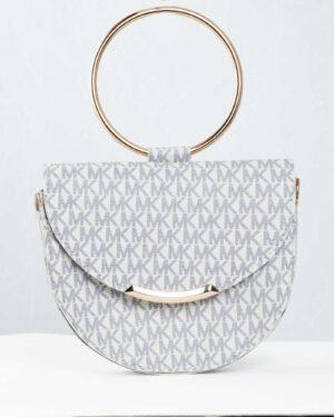 کیف مجلسی سفید طرح دار زنانه - سفید - کیف دستی