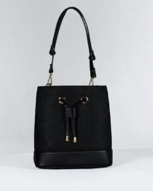 کیف مشکی زنانه طرح گوچی - مشکی - رو به رو