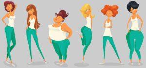 شلوار جین متناسب با فرم بدن های متفاوت