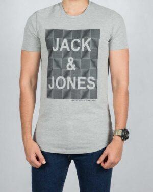 تی شرت اسپرت نخی مردانه - ملانژ - رو به رو