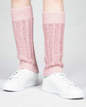 ساق پا بافت طرح مارپیچ - صورتی کثیف - رو به رو