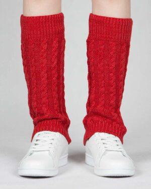 ساق پا بافت طرح مارپیچ - قرمز - رو به رو