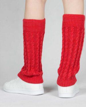 ساق پا بافت طرح مارپیچ - قرمز - پشت