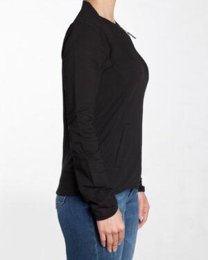 سویشرت کوتاه ساده دخترانه زیپ دار - مشکی - بغل سویشرت