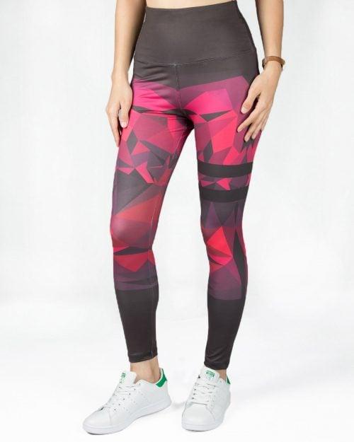 لگ ورزشی دخترانه طرح دار - بنفش - رو به رو